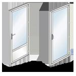 Exemple de panneau plein et de vitrage intégral pour porte-fenêtre