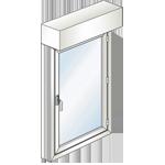 Fenêtre 1 ouvrant avec un volet roulant monobloc